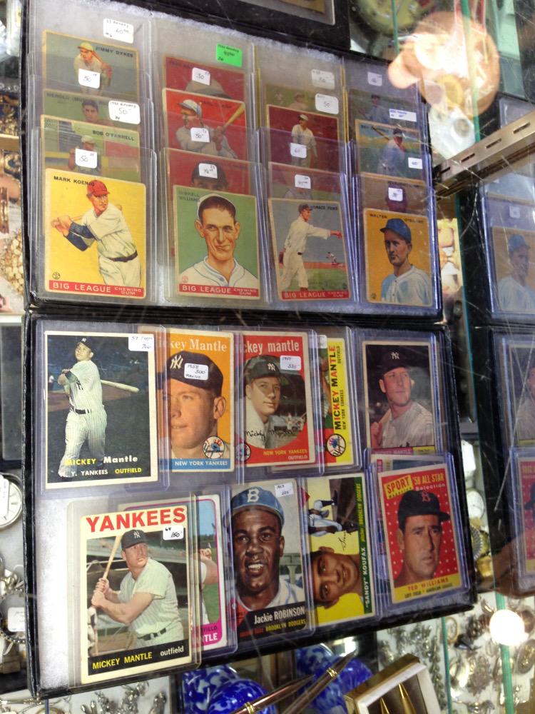 Antique Baseball card selection